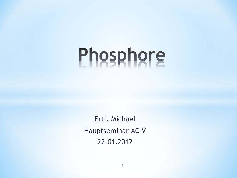 Ertl, Michael Hauptseminar AC V 22.01.2012 1