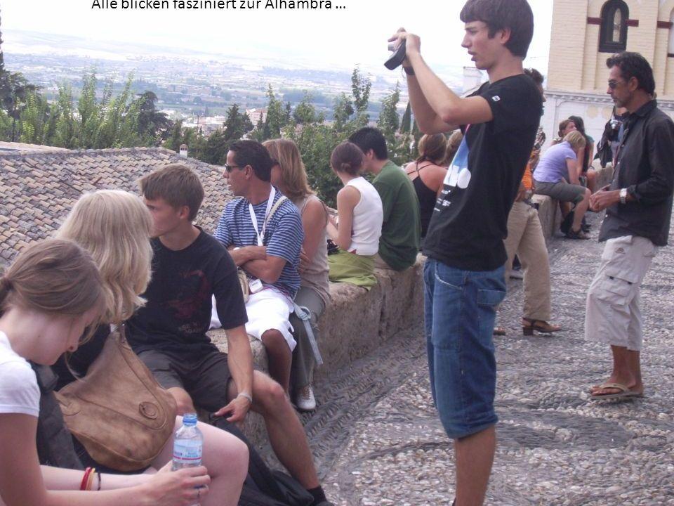 Alle blicken fasziniert zur Alhambra …