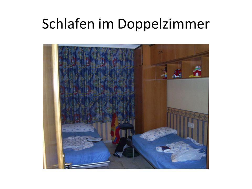 Schlafen im Doppelzimmer