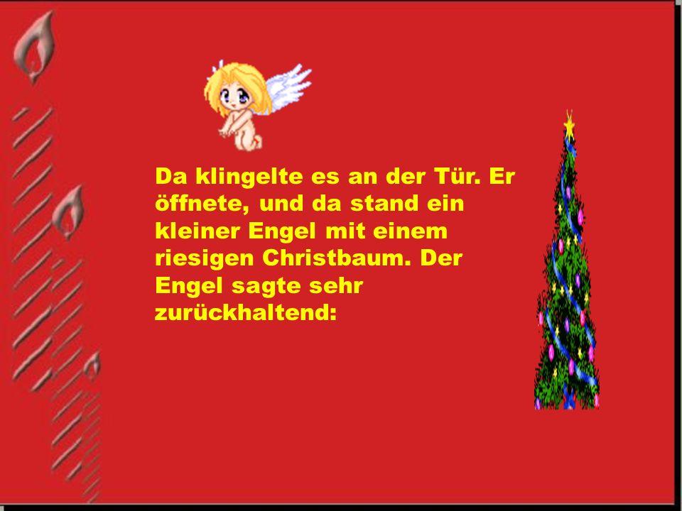 Frohe Weihnachten Weihnachtsmann.Ist es nicht ein schöner Tag.