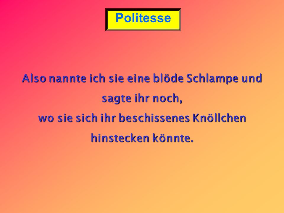 Politesse