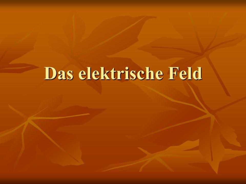 Das elektrische Feld E- Feld Wirkung des Feldes Faradays Feldidee Feldlinien Gesetze der Elek- trostatik Kraft im homogen Feld Def.