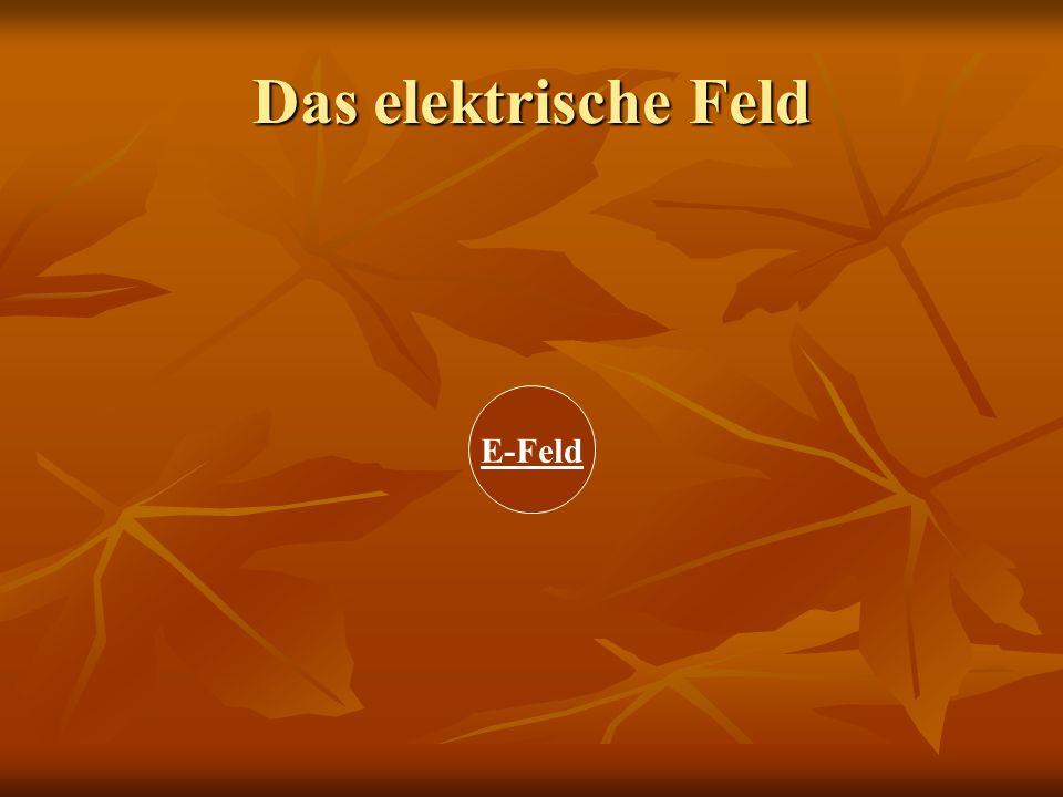 Das elektrische Feld E-Feld Wirkung des Feldes