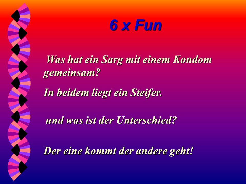6 x Fun Übrigens: Übrigens: LATTENROST ist keine Geschlechtskrankheit