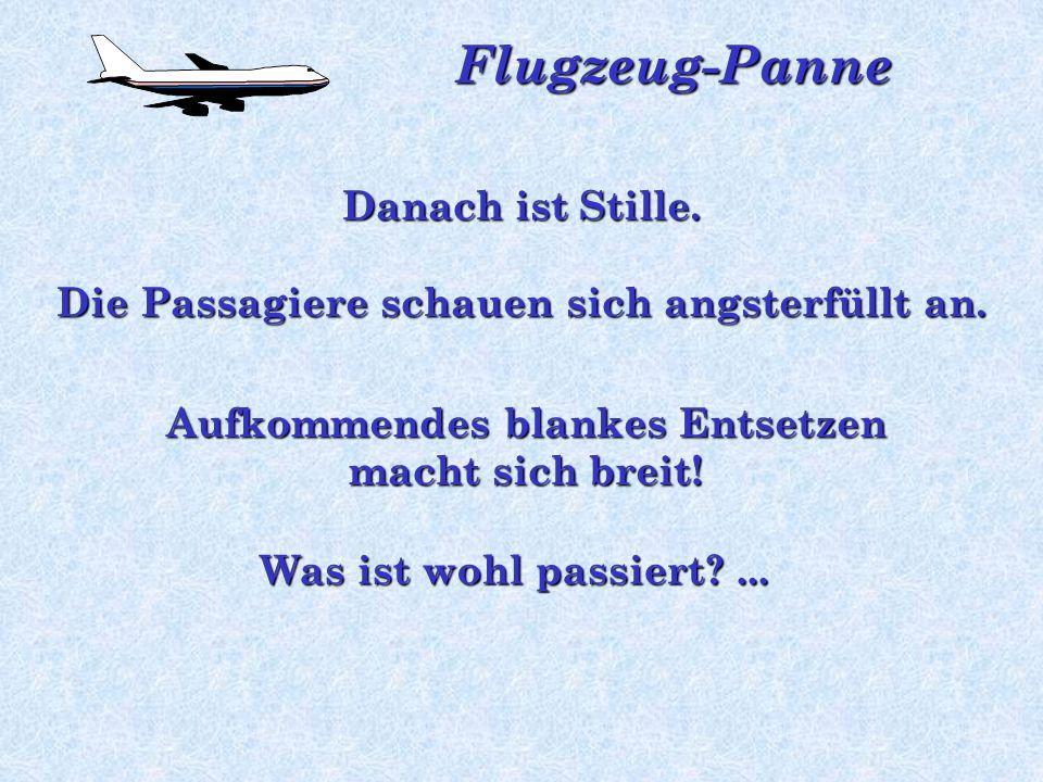 Flugzeug-Panne