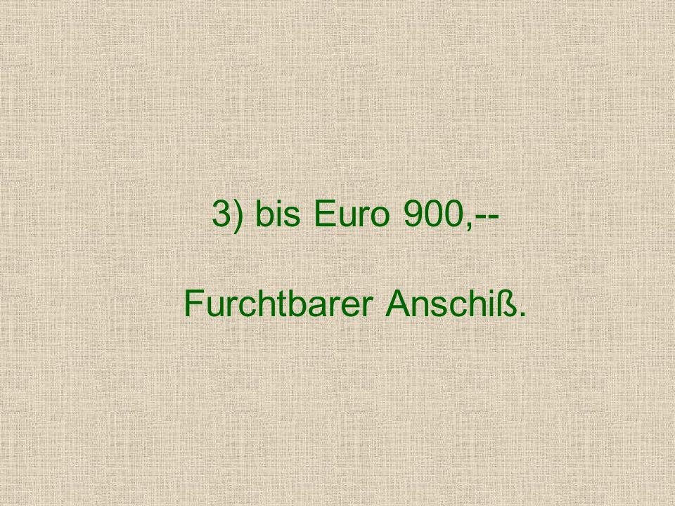2) bis Euro 750,-- Furchtbarer Anschiß, Eintragung in die Personalakte