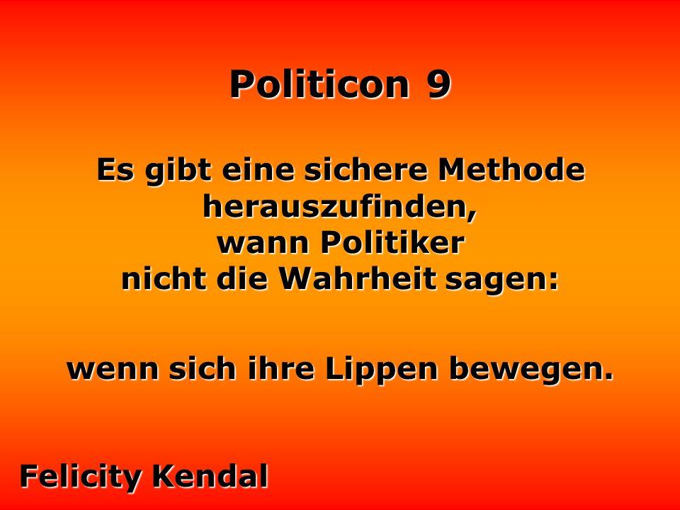 Politicon 9 Der Unterschied zwischen Politiker und Publikum: das Publikum ist unbezahlbar.