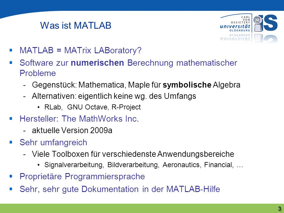 Compilierung von MATLAB-Code 14 MATLAB MATLAB Compiler MATLAB Builder for.NET MATLAB Builder for Excel MATLAB Builder for Java dll exe