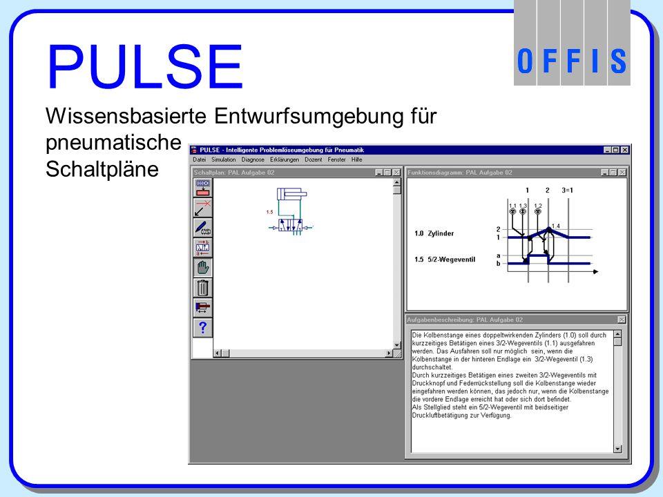 Wissensbasierte Entwurfsumgebung für pneumatische Schaltpläne Umfangreiche Aufgabensammlung Orakel, Erklärungen und Hilfestellungen PULSE Bestandteile