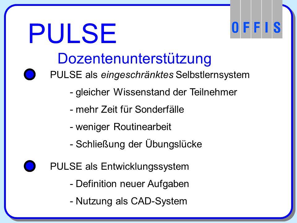 PULSE Vorführung und weitere Informationen Präsentation in Gruppenraum 1 PULSE im Internet: http://www.offis.uni-oldenburg.de/projekte/pulse