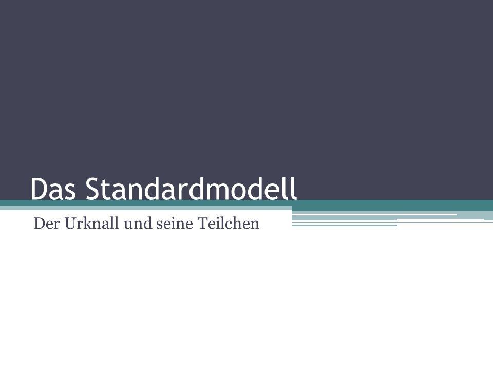 Das Standardmodell Der Urknall und seine Teilchen