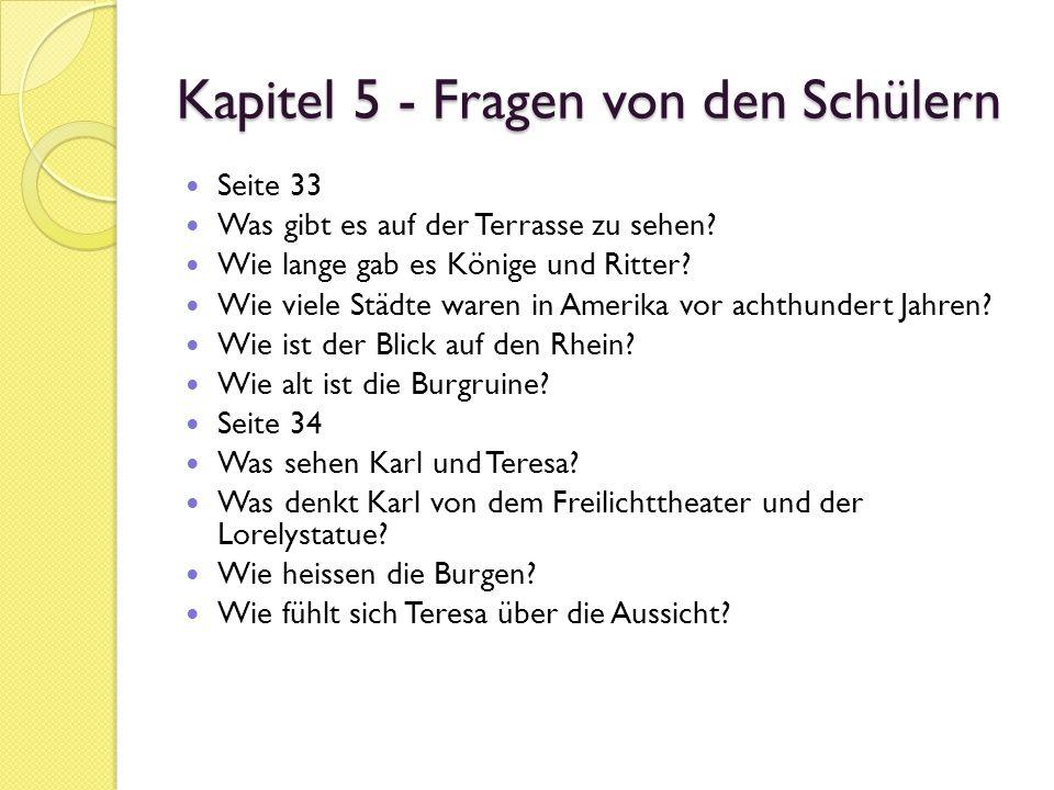 Die Reise seines Lebens Fragen zum Text (Kapitel 5) 10.