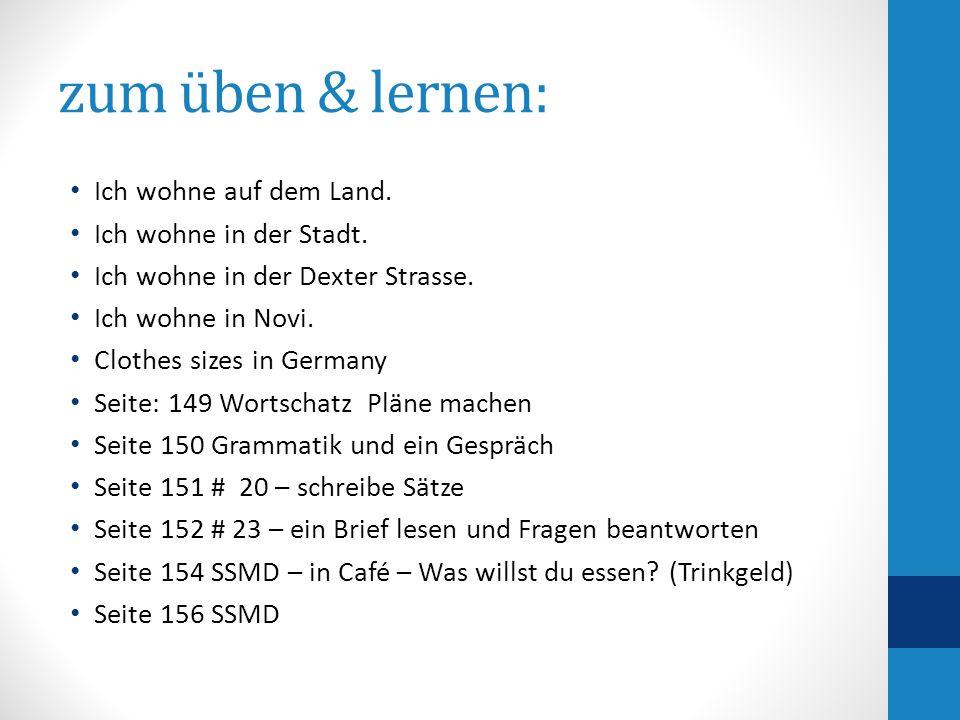üben – schreibe in Deutsch 6.Which subjects do you like.