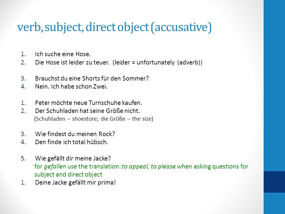 finding the subject & direct object: 3 steps you should take Was kostet der Gürtel.