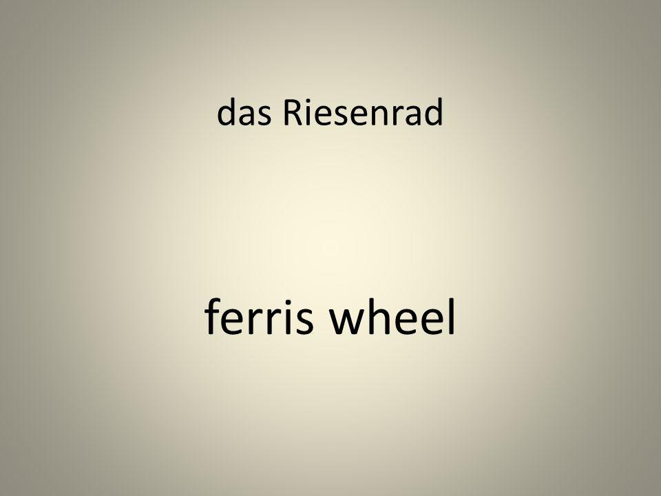 das Riesenrad ferris wheel