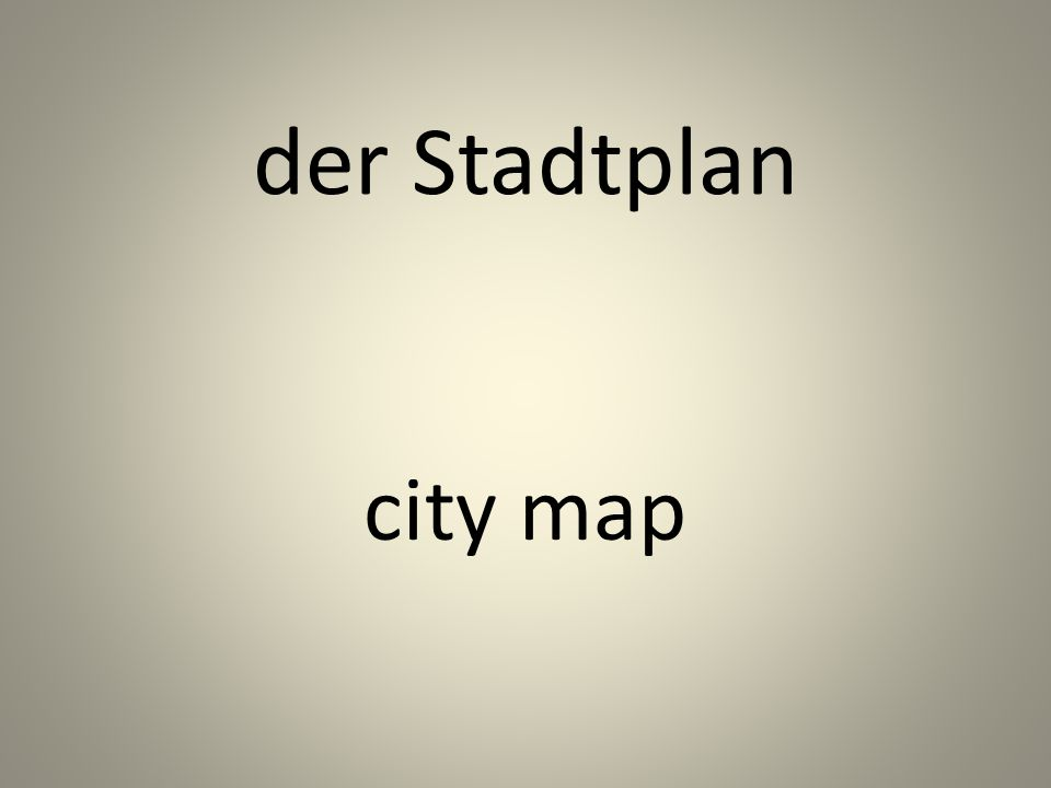 der Stadtplan city map