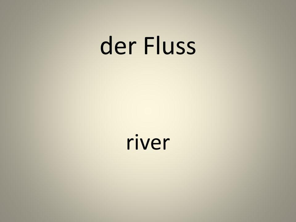 der Fluss river