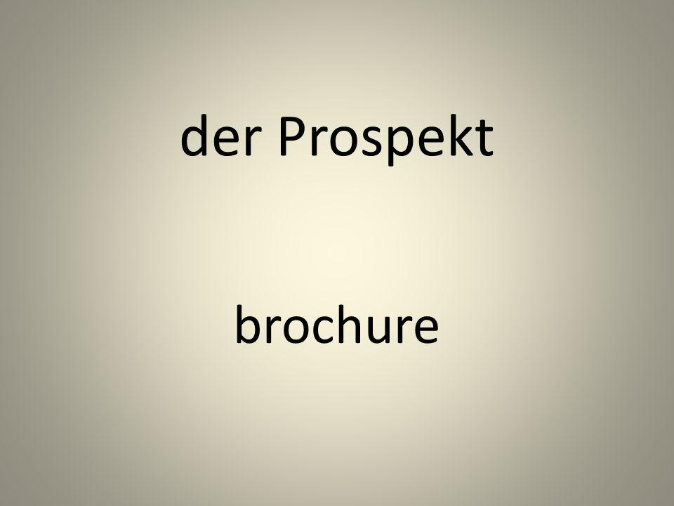 der Prospekt brochure