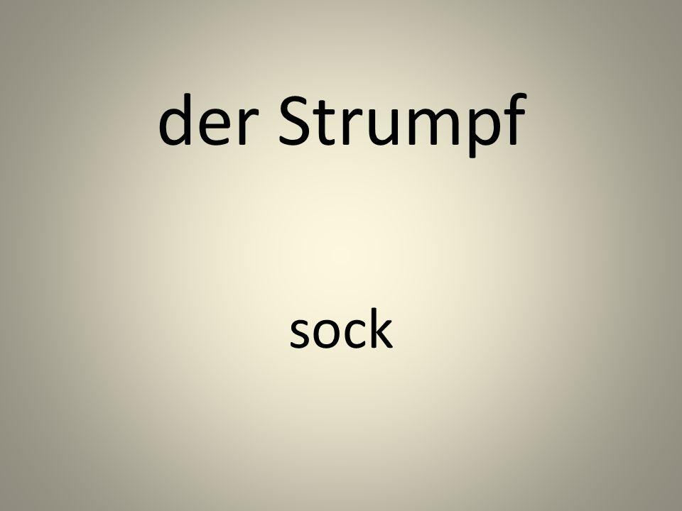 der Strumpf sock