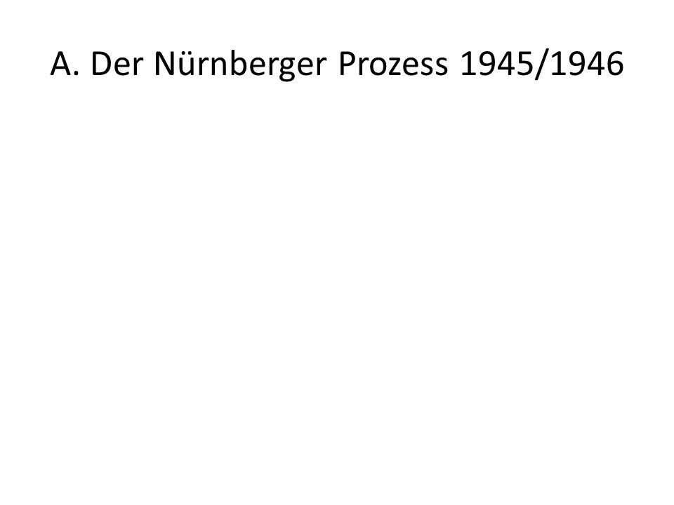 Die Anklagebank im Nürnberger Prozeß gegen die Hauptkriegsverbrecher vorne (v.l.n.r.): Hermann Göring, Rudolf Heß, Joachim von Ribbentrop, Wilhelm Keitel; hinten (v.l.n.r.): Karl Dönitz, Erich Raeder, Baldur von Schirach, Fritz Sauckel.