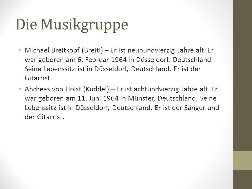 Die Musikgruppe Michael Breitkopf (Breiti) – Er ist neunundvierzig Jahre alt. Er war geboren am 6. Februar 1964 in Düsseldorf, Deutschland. Seine Lebe