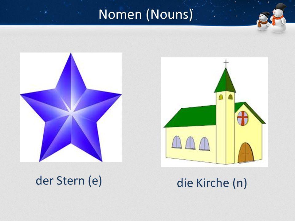 Nomen (Nouns) der Eiszapfender Schlitten