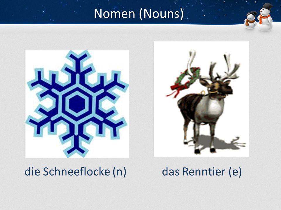 Nomen (Nouns) die Schneeflocke (n)das Renntier (e)