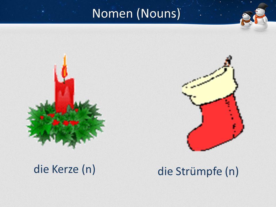 Verben (Verbs) decorate celebrate kiss hug schmücken feiern küssen umarmen