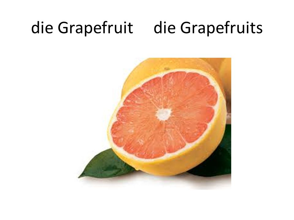 die Grapefruit die Grapefruits