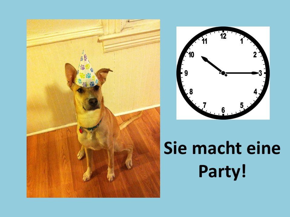 Sie macht eine Party!