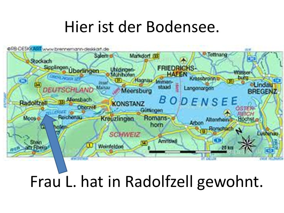 Der Bodensee liegt im Süden.