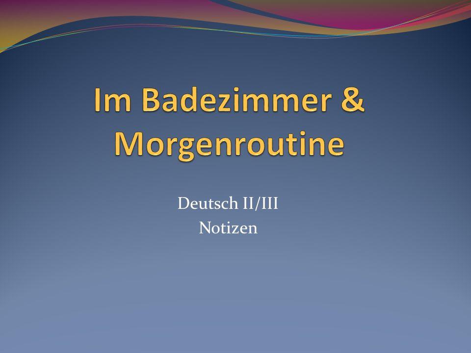 Deutsch II/III Notizen