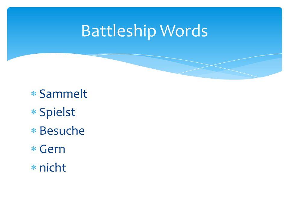 Sammelt Spielst Besuche Gern nicht Battleship Words