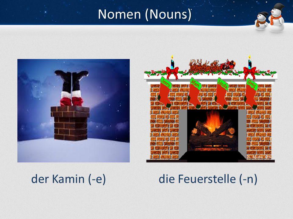 Nomen (Nouns) der Kamin (-e)die Feuerstelle (-n)