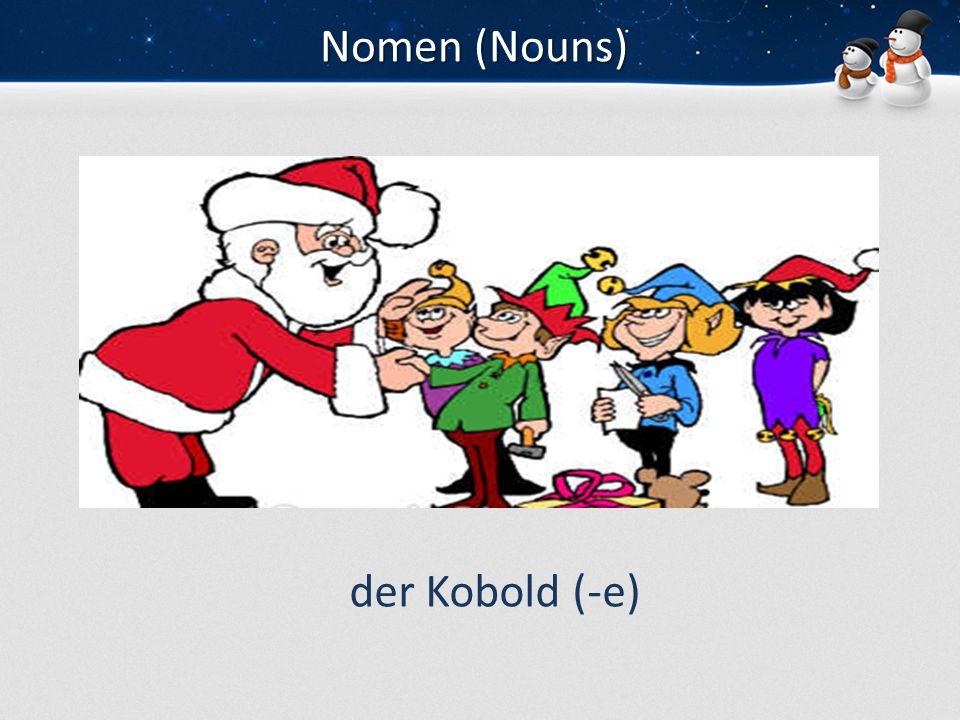 Nomen (Nouns) der Kobold (-e)