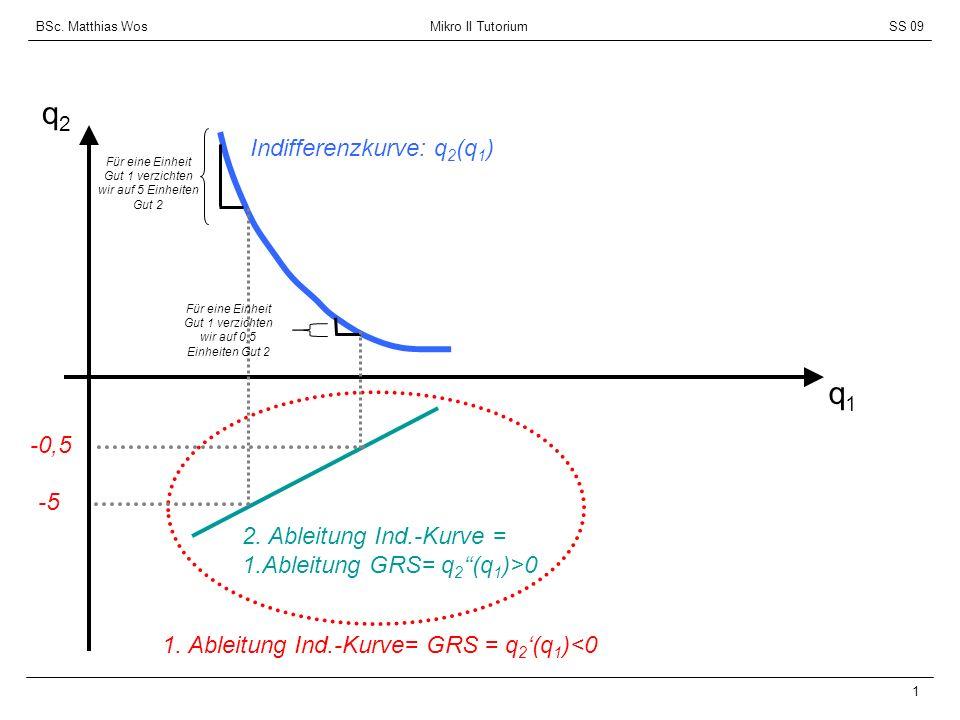 BSc. Matthias Wos Mikro II TutoriumSS 09 2 y/p 2 y/p 1 q2q2 q1q1