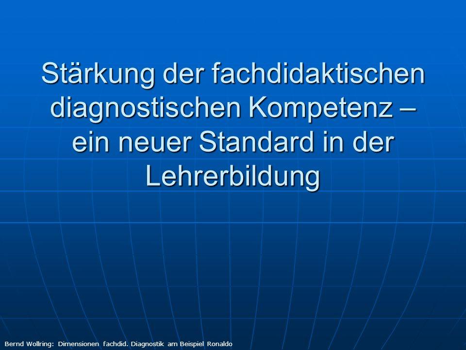 Die Standardgruppe 5 des AfL Diagnostischer Ausbildungsbedarf.
