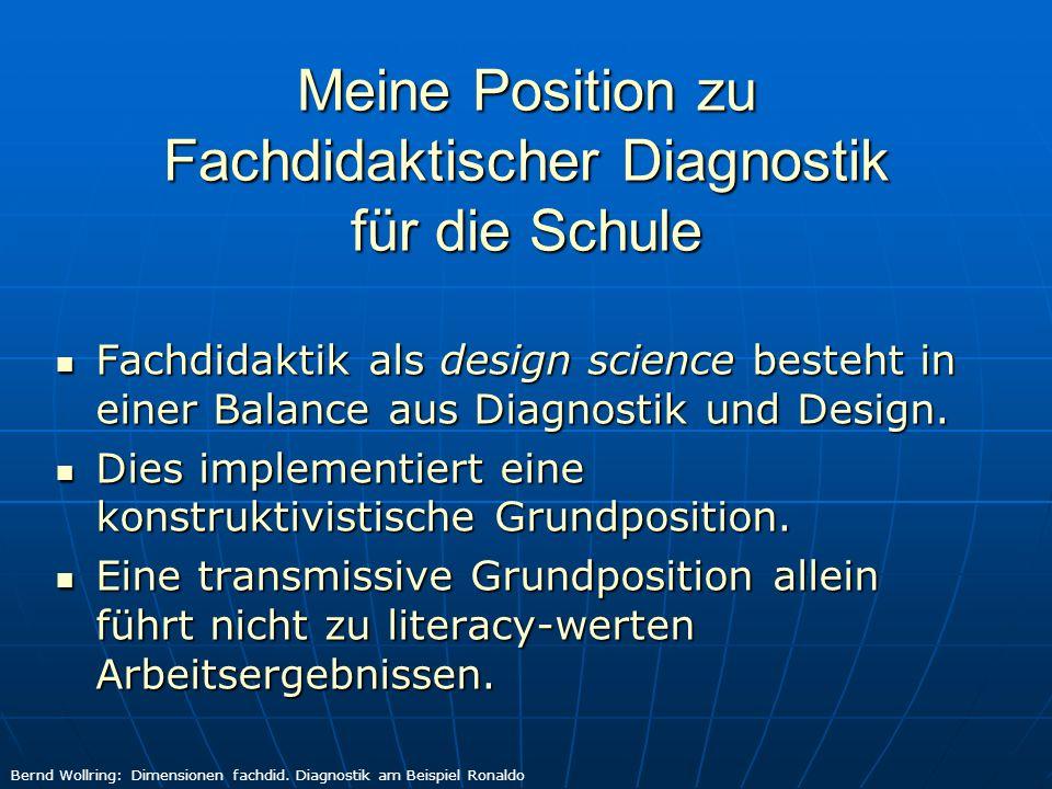 Dimensionen Fachdidaktischer Diagnostik Defizitdiagnostik oder Kompetenzdiagnostik.