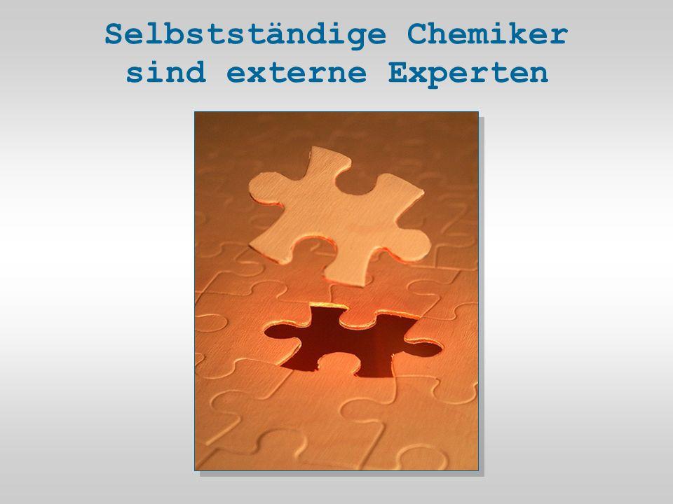 Selbstständige Chemiker sind externe Experten
