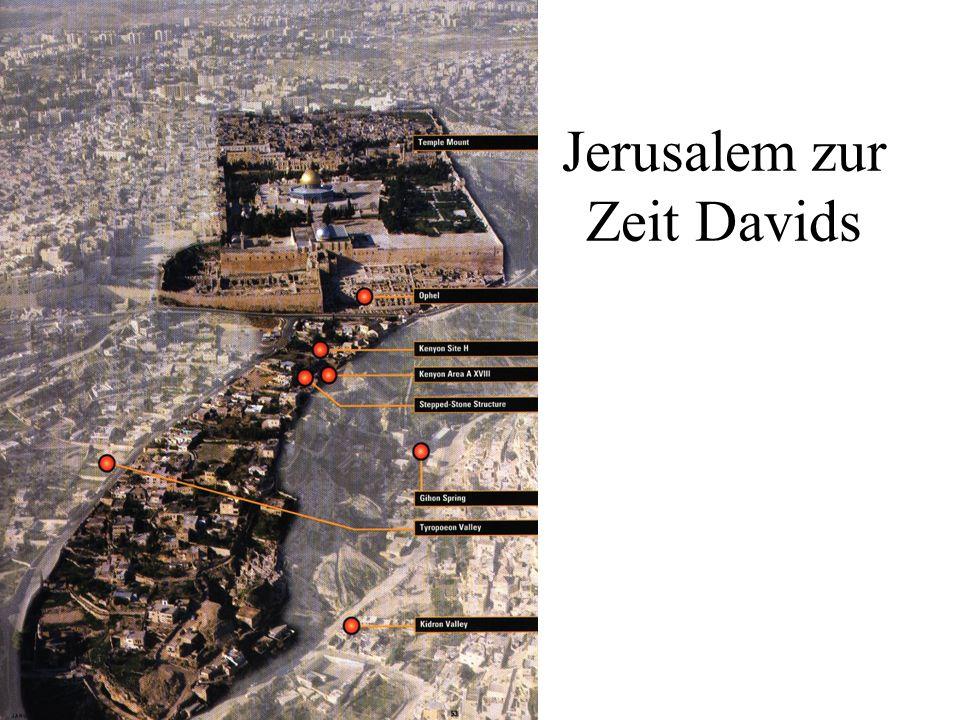 Davids Eroberung Jerusalems Eroberung Jerusalems (2 Sam 5,6-8) Damit waren nicht etwa der Staat Juda und der Staat Israel zu einem einheitlichen Reich