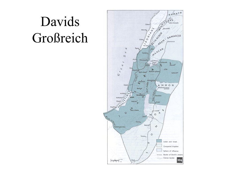 Davids Großreich Abschütteln der Philister Außer dem Sieg über die Philister gelang David die Unterwerfung aller Nachbarstaaten. Er machte sich zum Kö