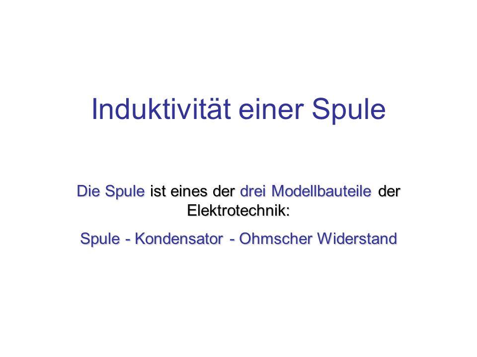 Induktivität einer Spule Die Spule ist eines der drei Modellbauteile der Elektrotechnik: Spule - Kondensator - Ohmscher Widerstand