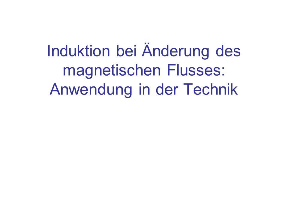 Induktion bei Änderung des magnetischen Flusses: Anwendung in der Technik