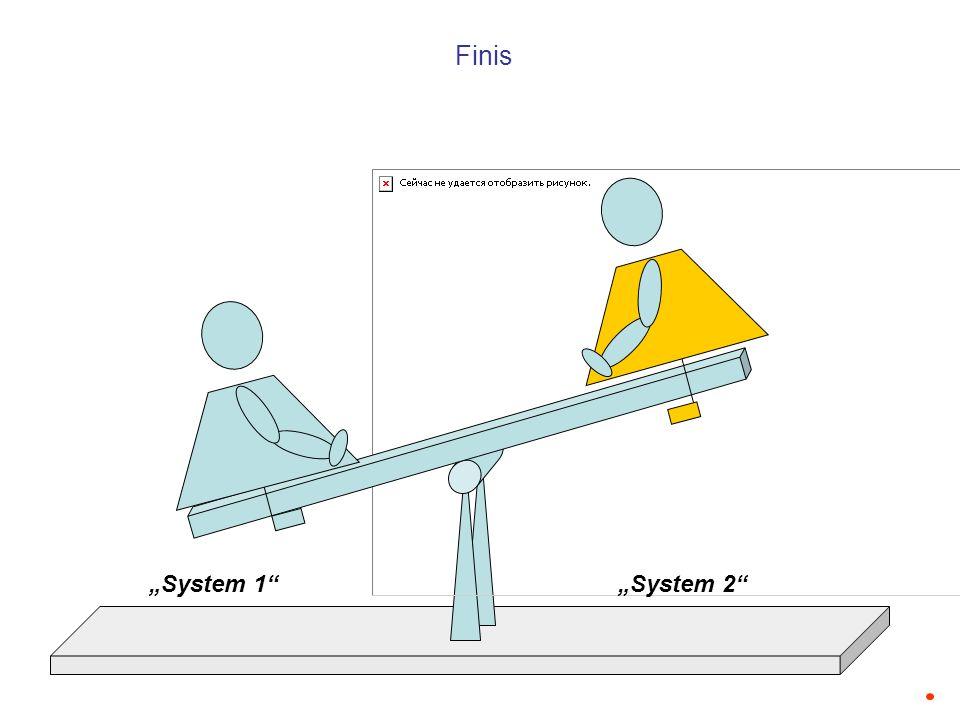 System 1System 2 Finis
