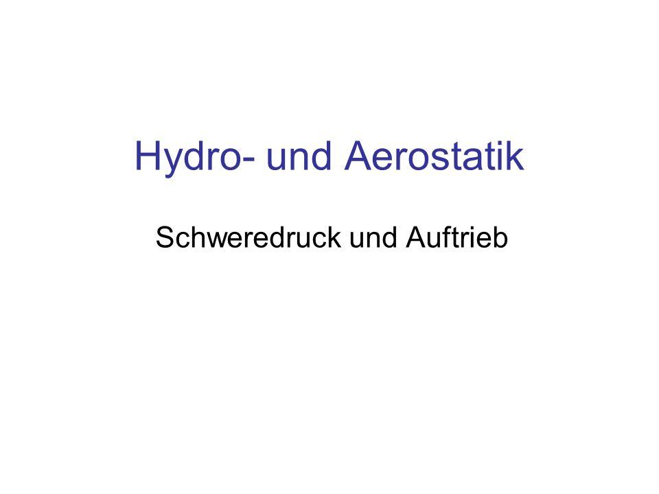 Hydro- und Aerostatik Schweredruck und Auftrieb