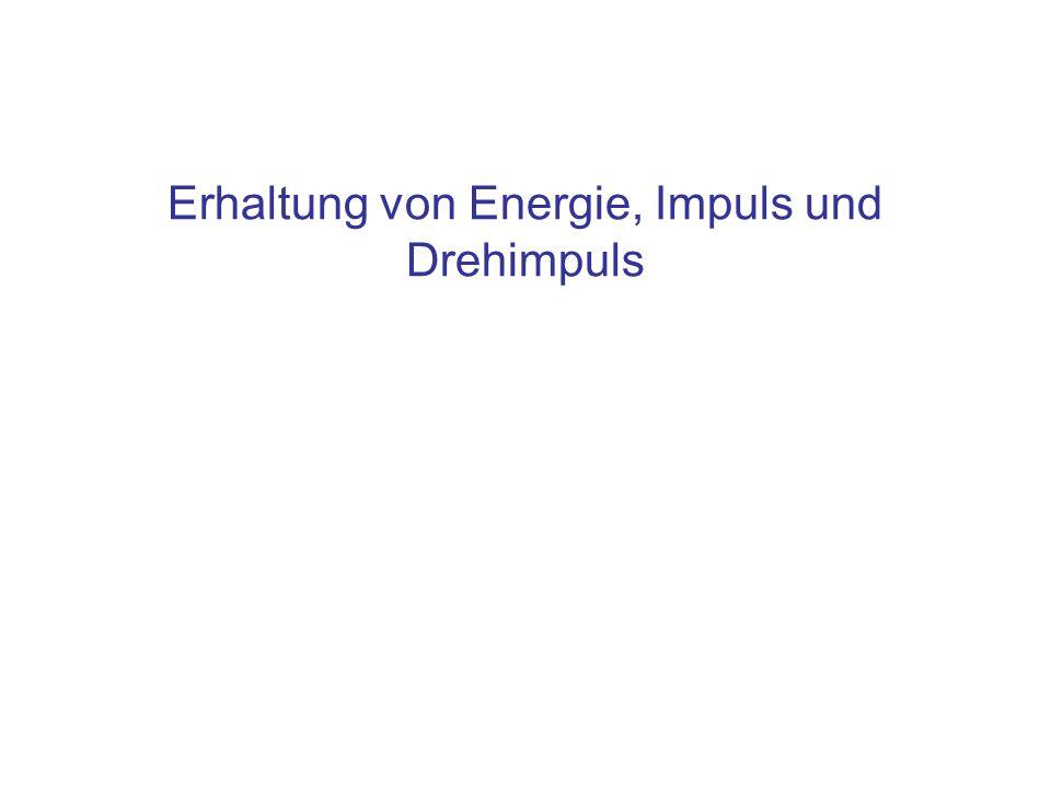 Inhalt Zusammenfassung der Erhaltungssätze: Impulserhaltung Drehimpulserhaltung Energieerhaltung –Reversible Vorgänge –Irreversible Vorgänge