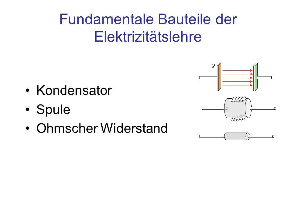 Fundamentale Bauteile der Elektrizitätslehre Kondensator Spule Ohmscher Widerstand