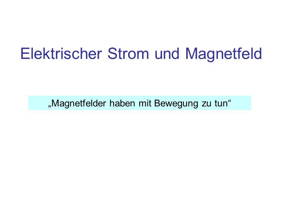 Elektrischer Strom und Magnetfeld Magnetfelder haben mit Bewegung zu tun