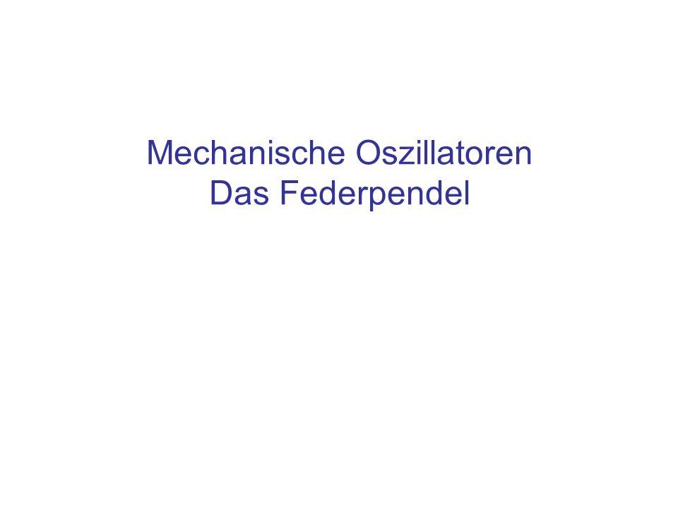 Inhalt Modellsystem: Massenpunkt und Feder Details zu den Kräften Aufbau der Bewegungsgleichung und ihre Lösung