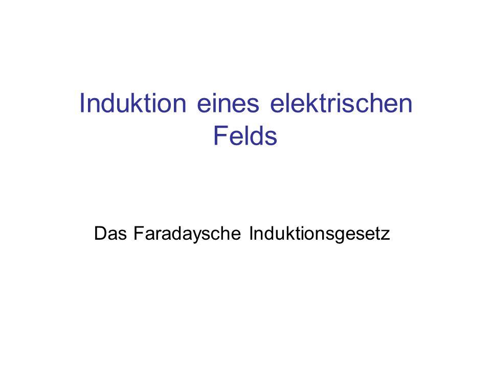 Induktion eines elektrischen Felds Das Faradaysche Induktionsgesetz
